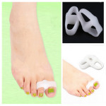 Pair Of Dual Ring Silicone Hallux Valgus Orthotics Toe Separators Personal Care