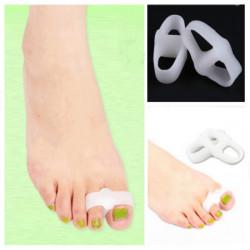 Pair Of Dual Ring Silicone Hallux Valgus Orthotics Toe Separators