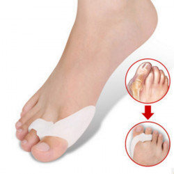 Pair Of Silicone Hallux Valgus Orthotics Toe Separators