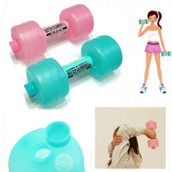 Portable Plastic Water Dumbbell Shape And Fitness Lose Weight