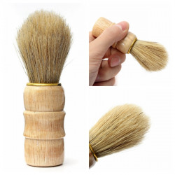 Professional Barber Salon Wood Handle Shaving Brush Tool