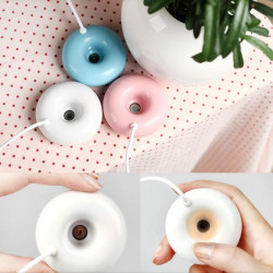 USB Timing Mini Donuts Humidifier Air Mist Atomizer Purifier