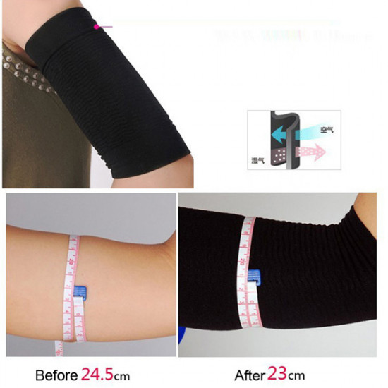 Ultra-Thin Wave Arm Slimming Shapewear Fat Burning Massage Sleeve 2021