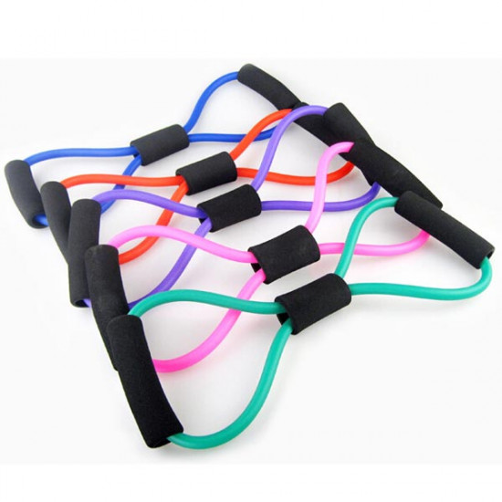 Yoga 8 Type Resistance Band Tube Body Building Fitness Exercise Tool 2021