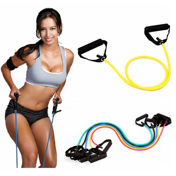 Yoga Exercise Elastic Fitness Resistance Band Rope Tubes Personal Care