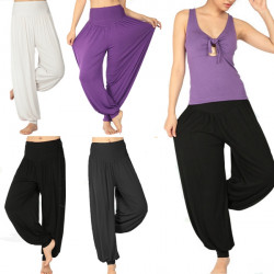 Yoga Sport Flare Modal Pant Belly Dance Loose Comfy Loose Trousers Pants