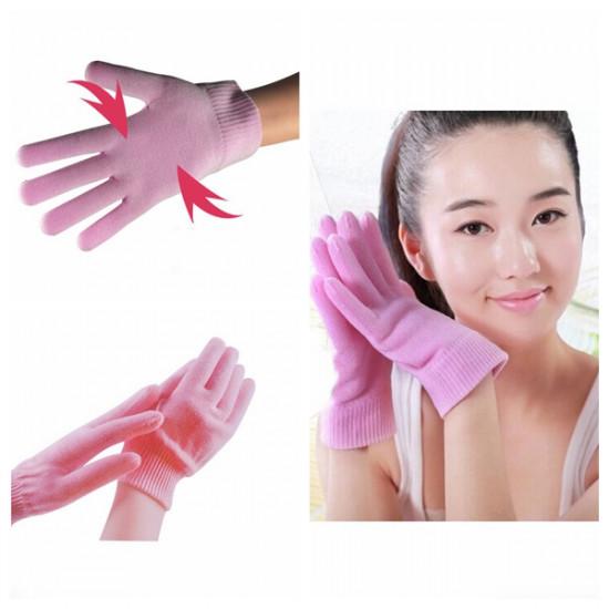1 Pair Pink SPA Gel Moisturizing Hand Gloves Skin Whitening 2021