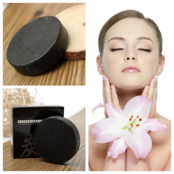 Bamboo Charcoal Handmade Soap Whitening Oil-control Blackhead Removal