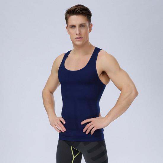 Men's Belly Slimming Body Shaper Vest Fatty Slim Shirt Corset 2021