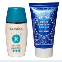 ROLANJONA Suncream Sunscreen Emulsion Bedtime Iced Mask Skin Care Suit