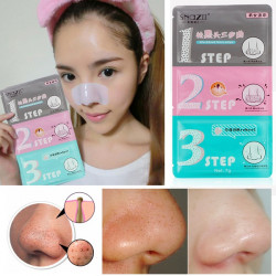 SnazⅡ Nose Pore Blackhead Eliminating Remover Cleaner Pad 3 Steps Kit
