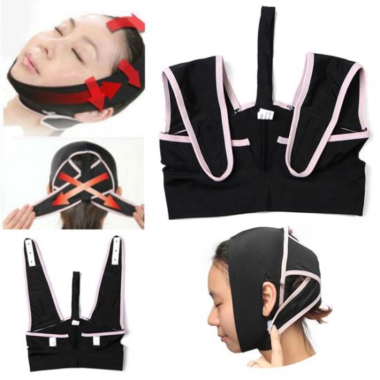 V Line Check Chin Slim Belt Face Lift Up Strap Slimming Mask 2021