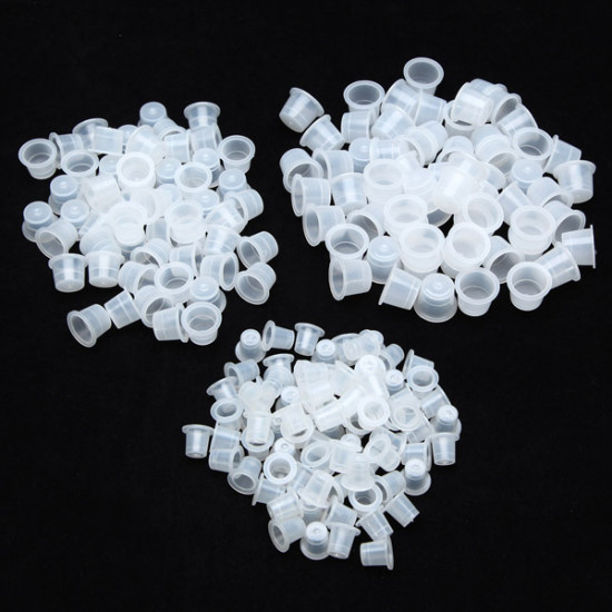 100pcs Plastic Tattoo Ink Cups Caps Holders Supplies 3 Size 2021