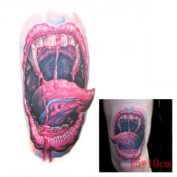 3D Bloody Mouth Waterproof Temporary Transfer Tattoo Sticker
