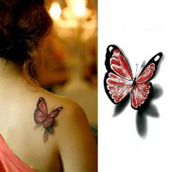 3D Butterfly Waterproof Temporary Transfer Tattoo Sticker