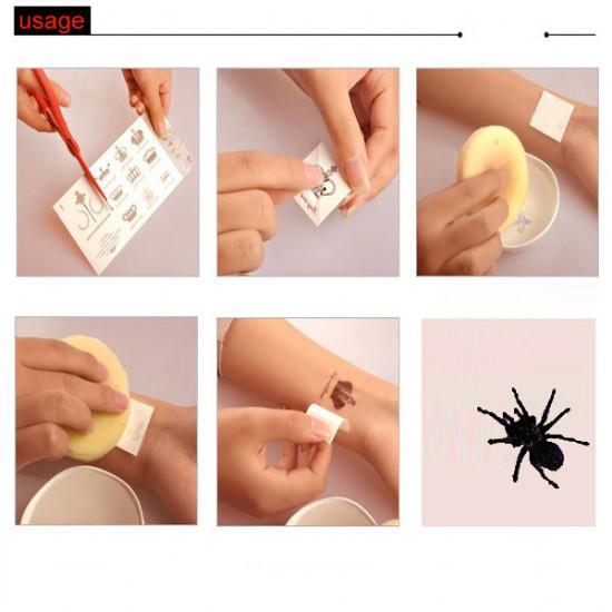 3D Temporary Waterproof Spider Body Tattoo Sticker 2021