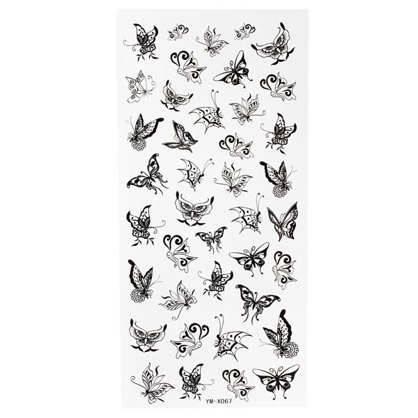 Butterfly Design Insect Waterproof Temporary Tattoo Sticker Paper
