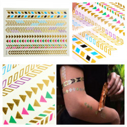 Flash Metallic Colorful Body Art Temporary Tattoo Sticker