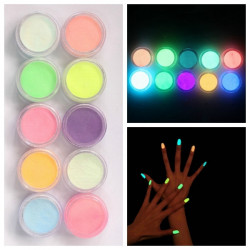 Glow In The Dark Nail Fluorescent Tattoo Acrylic Powder Decoration