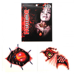 Halloween 3D Horror Waterproof Temporary Transfer Tattoo Sticker