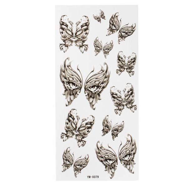 Mask Totem Design Waterproof Temporary Tattoo Sticker Paper