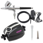 OPHIR Mini Air Compressor Dual Action Airbrush Spray Kit Makeup Tattoo Tattoos & Body Art