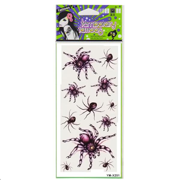 Red Spider Tattoo Design Insect Waterproof Temporary Tattoo Sticker Tattoos & Body Art