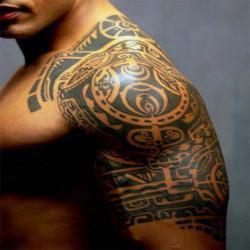Shawl Upper Arm Temporary Waterproof Art Tattoo Sticker