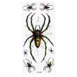 Spider Pattern Tattoo Insect Waterproof Temporary Tattoo Sticker
