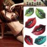 Temporary Mouth Eyes Tattoo Transfer Body Art Sticker Waterproof Tattoos & Body Art