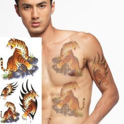 Tiger Pattern Design Animal Waterproof Temporary Tattoo Sticker Paper