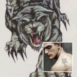 Tiger Totem Design Animal Waterproof Temporary Tattoo Sticker Paper