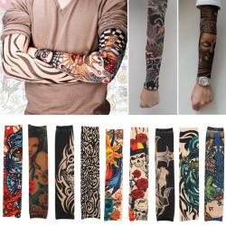 Unisex Stretchy Nylon Arm Skull Tribal Tattoo Sleeve Stocking