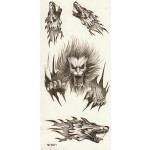 Wolf Totem Design Animal Waterproof Temporary Tattoo Sticker Paper Tattoos & Body Art