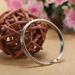 100Pcs 25mm Metal Split Rings Nickel Steel Hoop Keyrings Keychain