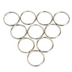 10pcs 25mm Silver Metal Key Holder Split Rings Keyring Accessories Keychain