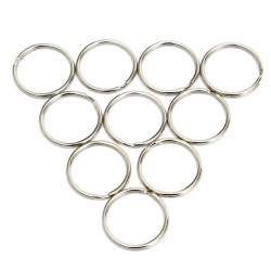 10pcs 25mm Silver Metal Key Holder Split Rings Keyring Accessories