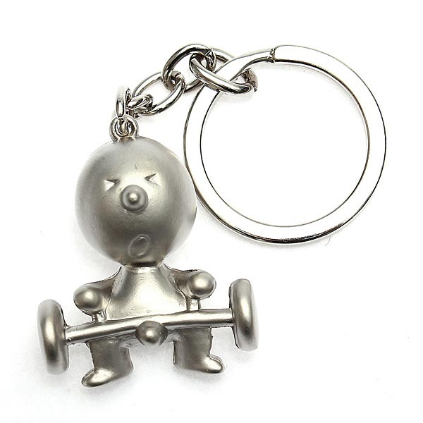 1 PC Creative Silver Mr P Boy Akimbo Key Ring Chain Fob Gift Keychain