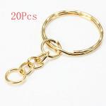20Pcs Split Alloy Keyring Snake Chain Gold Silver Plated Keychain