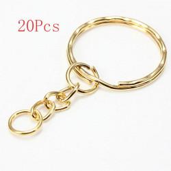 20Pcs Split Alloy Keyring Snake Chain Gold Silver Plated
