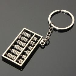3D Mini Simulation Abacus Model Keyring Metal Key Chain Gift