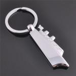 3D Silver Cruises Ship Boat Model Key Chain Metal Keyring Gift Keychain