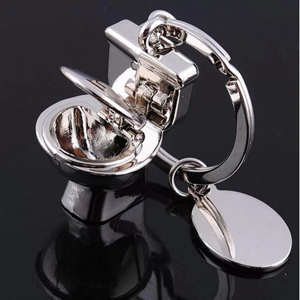 3D Toilet Model Keyring Zinc Alloy Key Chain Jewelry Gift Keychain