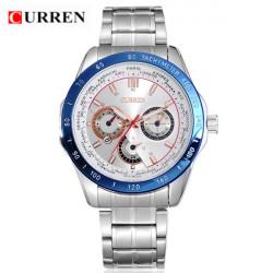CURREN 8150 Stainless Steel Waterproof Analog Quartz Sport Watch