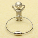 Creative Classic Silver Mr P Boy Key Chain Key Ring Gift Keychain