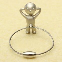 Creative Classic Silver Mr P Boy Key Chain Key Ring Gift