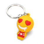 Cute Cartoon QQ Expression Key Chain Pendant Metal Key Ring Keychain