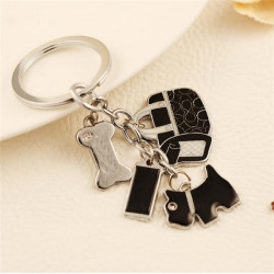 Cute Puppy Bones Ladies Bags Pendant Key Chain Personalized Gift