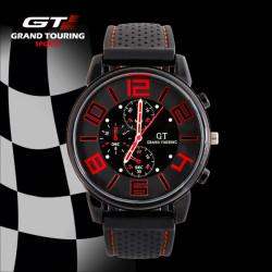 GT 57 GRAND TOUCHING Silicone Band Quartz Analog Sport Watch