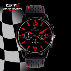 GT GRAND TOUCHING Silicone Band Quartz Analog Sport Watch